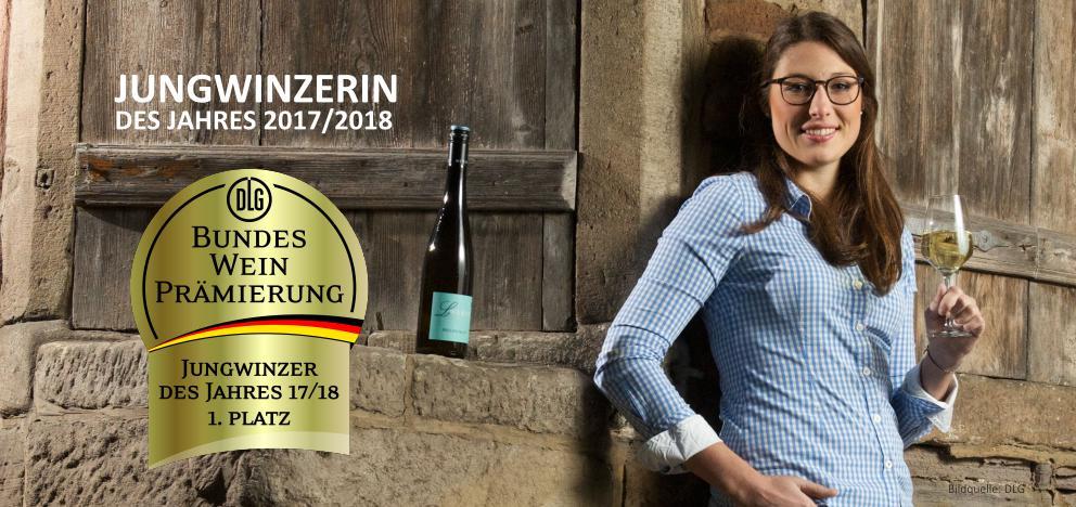 Jungwinzerin des Jahres 2017/2018 der DLG Laura Weber, Weingut Weber, Nahe