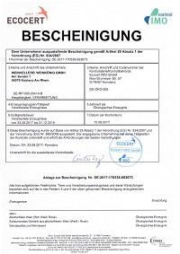 ECOCERT Bio-Zertifikat Weinkönig