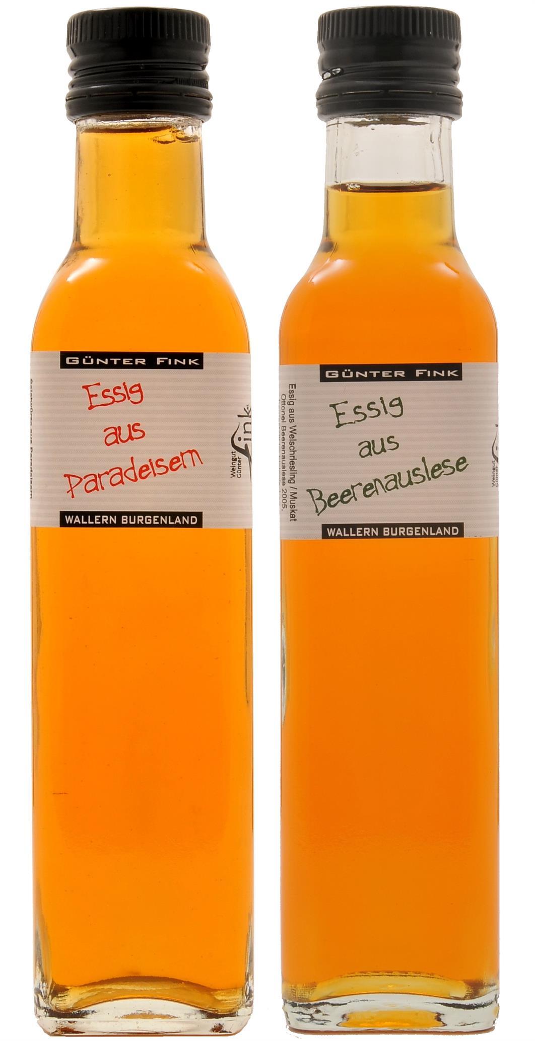 Paradeiseressig [Tomaten] 6% + Beerenausleseesig 7%