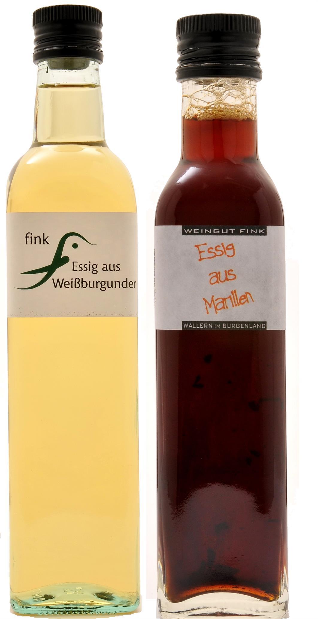 Weissburgunderessig 7% + Marillenessig [Aprikosen] 5%